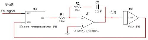 PLL para calcular la respuesta en frecuencia del filtro anterior