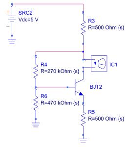 Circuito con autopolarización por emisor