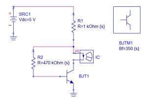 Circuito de polarización de un BJT
