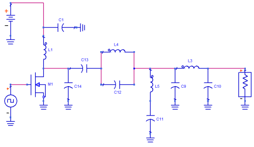 Amplificador clase E con MOSFET